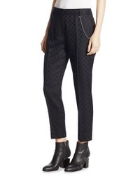 Alexander Wang - Multicolor Wool Cropped Pants - Lyst