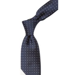 J S Blank & Co | Blue Polka Dots And Contrast Stripe Tie for Men | Lyst