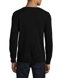 The Kooples - Black Merino Wool Sweatshirt for Men - Lyst