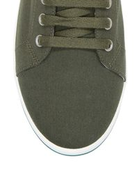 Fred Perry - Green Kingston Twill Low Top Sneakers for Men - Lyst