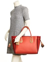 Longchamp - Red Penelope Medium Leather Tote - Lyst