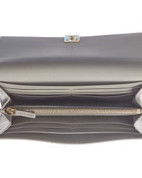 Fendi - Gray Continental Leather Wallet - Lyst