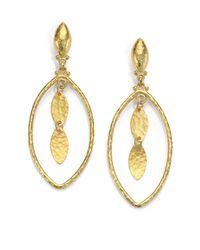 Gurhan - Metallic 24k Yellow Gold-layered Marquis Drop Earrings - Lyst