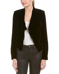 BCBGMAXAZRIA - Black Lloyd Silk-blend Jacket - Lyst