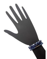 Bavna - Blue Stretch Bracelet Assorted Set Of 3 - Lyst