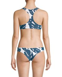 Mikoh Swimwear - Blue One Piece - Mahina - High Neck Halter Cutout Detailed One Piece - Lyst