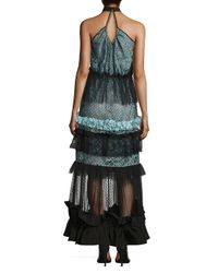 Romance Was Born - Black Queen Of The Night Moon Halter Gown - Lyst