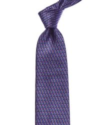 Ermenegildo Zegna - Purple Pattern Silk Tie for Men - Lyst