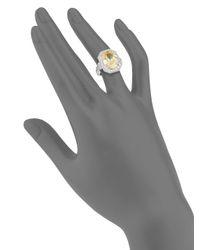 Saks Fifth Avenue - Metallic Cubic Zirconia Rectangular Ring - Lyst
