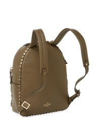 Valentino - Rockstud Medium Leather Backpack - Green - Lyst