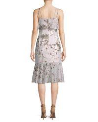 RACHEL Rachel Roy - Multicolor Tiered Floral Lace Midi Dress - Lyst