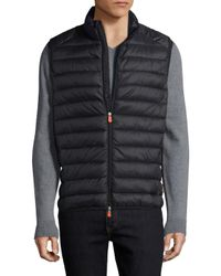 Save The Duck - Black Basic Solid Vest for Men - Lyst