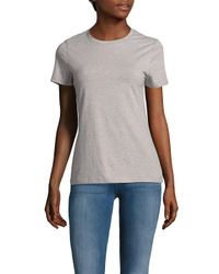 Saks Fifth Avenue Black - Black Short-sleeve Heathered Tee - Lyst