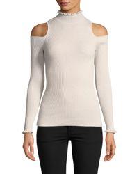 Rebecca Taylor - Multicolor Cold Shoulder Pullover - Lyst