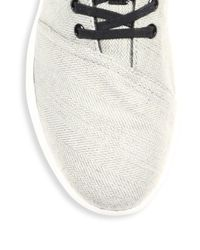 TOMS - Gray Del Rey Chevron & Herringbone Wool Sneakers for Men - Lyst