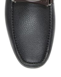 Ferragamo - Black Leather Granprix Loafers for Men - Lyst