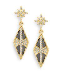 Freida Rothman | Metallic Pointed Drop Earrings | Lyst
