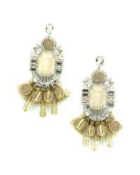 Elizabeth Cole - Metallic Jewelry Plated Crystal Chandelier Earrings - Lyst