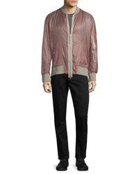 Diesel Black Gold - Pink Jacobus Bomber Jacket for Men - Lyst
