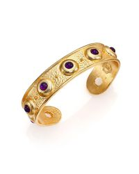 Stephanie Kantis - Yellow Balance Light Amethyst Cuff Bracelet - Lyst