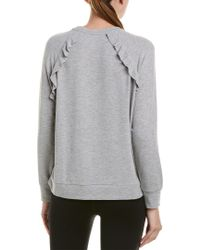 Betsey Johnson - Gray Performance Ruffled Raglan Pullover - Lyst