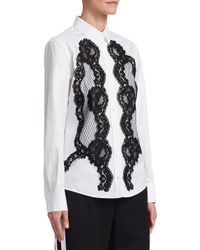 Dolce & Gabbana - White Lace Cotton Shirt - Lyst