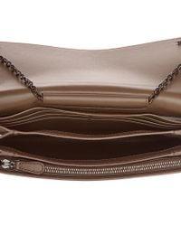 Bottega Veneta Gray Intrecciato Leather Wallet On Chain