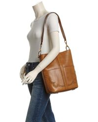 Frye - Brown Ilana Leather Western Tote - Lyst