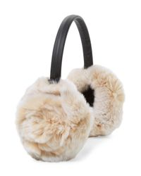 Adrienne Landau Natural Rabbit Fur Earmuff