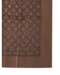 Louis Vuitton - Metallic Vintage Gold Silk Shawl - Lyst