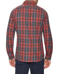 Faherty Brand - Red Cotton Sea View Workshirt for Men - Lyst