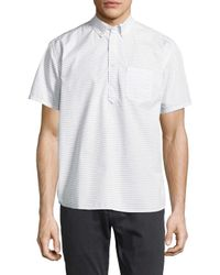 Life After Denim - White Skipper Popover Cotton Sportshirt for Men - Lyst