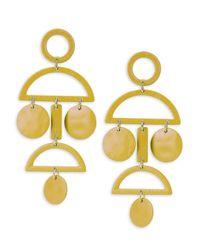 Gemma Simone | Yellow Geo Sterling Silver Earrings | Lyst