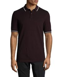Fred Perry Brown Pique Polo for men