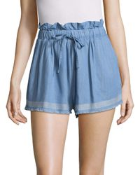 Suboo - Blue Outlaw Shorts With Frills - Lyst