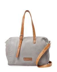 Liebeskind - Gray Washed Satchel - Lyst