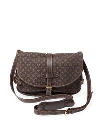 Louis Vuitton - Vintage Brown Mini Lin Saumur Pm Satchel - Lyst
