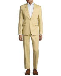 Aspetto - Natural Solid Notch Lapel Suit for Men - Lyst