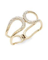 Alexis Bittar | Metallic Miss Havisham Liquid Crystal Hinged Bracelet/goldtone | Lyst