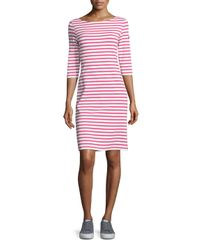 Saint James - Pink Propriano Striped Shift Dress - Lyst