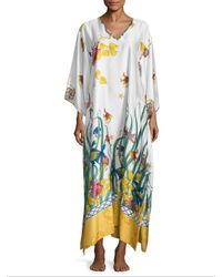 Natori - Multicolor Print Caftan Dress - Lyst