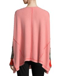 Free People - Pink Thermal Contrast Sweater - Lyst