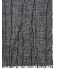 John Varvatos - Gray Printed Heather Wool Scarf for Men - Lyst