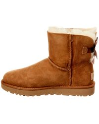 Ugg Brown Women's Mini Bailey Bow Ii Water-resistant Suede Boot