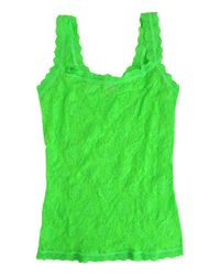 Hanky Panky Green Signature Lace Unlined Camisole