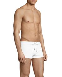 2xist - White Solid Self-tie Trunks for Men - Lyst