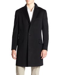 Saks Fifth Avenue - Blue Collection Wool & Cashmere Coat for Men - Lyst