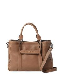 Lyst - Longchamp Small Leather Tote in Brown ff5b9f6589620