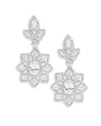 Saks Fifth Avenue | Multicolor Cubic Zirconia And Silvertone Drop Statement Earrings | Lyst