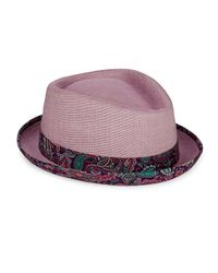 Robert Graham | Purple Cotton Fedora for Men | Lyst